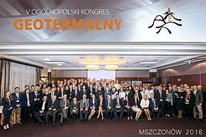 Zdjęcie grupowe podczas V Ogólnopolskiego Kongresu Geotermalnego